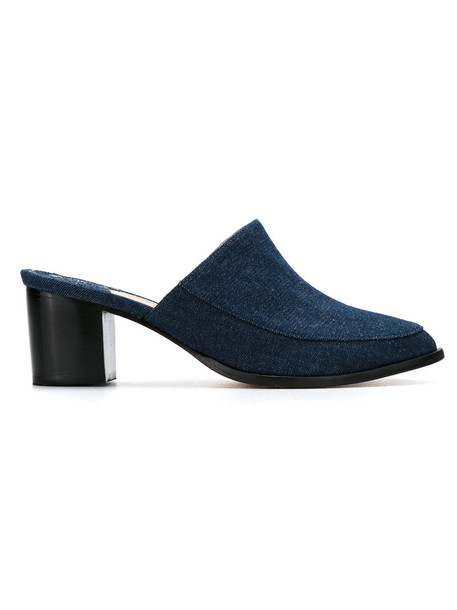 Lilly Sarti denim women mules cotton blue shoes