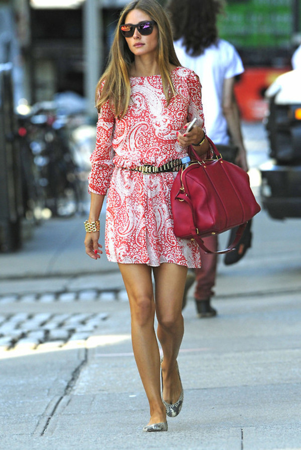 dress olivia palermo cute dress earphones