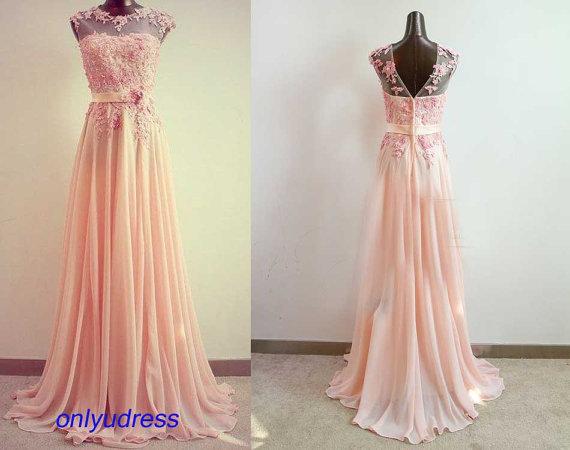 Blush prom dresses prom dresses on sale custom made by onlyudress