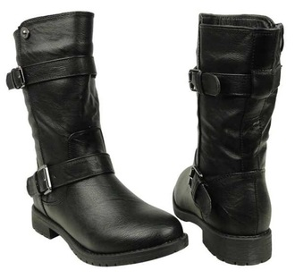 shoes mid calf boots cosplay dean winchester supernatural buckles black boots boots style leather boots