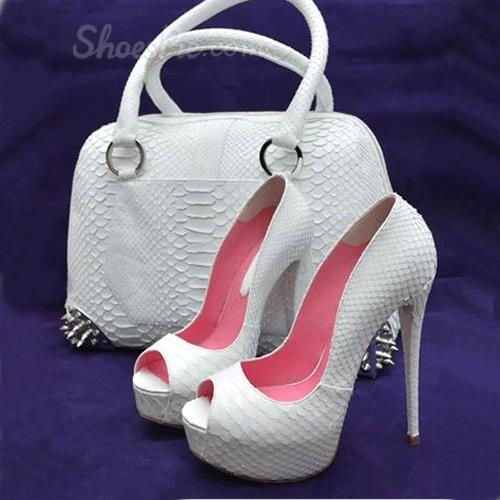 Elegant Solid Color Peep-Toe Heels