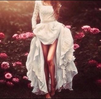 dress wedding dress hipster wedding long sleeve dress white dress