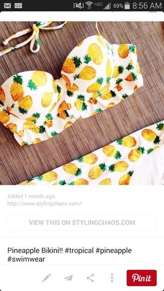swimwear pineapple
