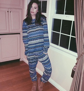 pants amanda steele christmas sweater winter outfits pajamas