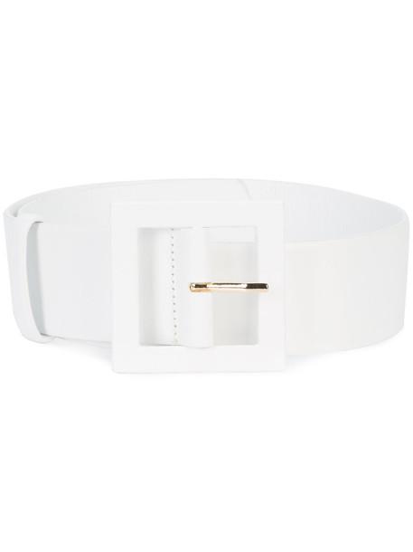 women thick belt waist belt leather white