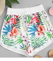 shorts,girly,girly wishlist,floral,flowers,flowered shorts,short