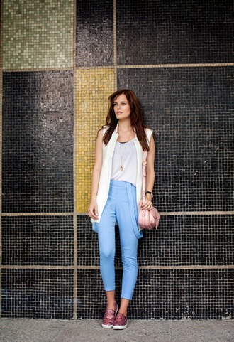 the bow-tie blogger jacket t-shirt shoes bag