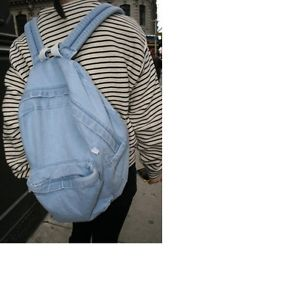 2015 Jeans Backpack women School Travel denim gym Bag ladies denim backpack