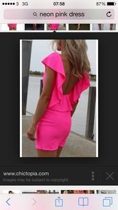 dress,neon pink,blonde hair,romper