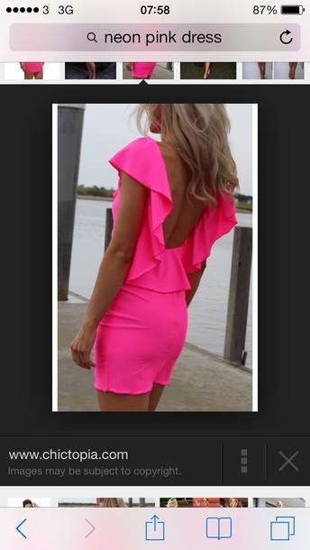 dress neon pink blonde hair www.chictopia.com