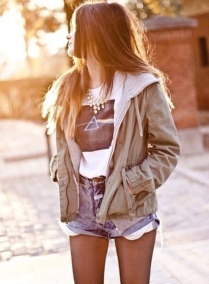 jacket brown jacket coat army green green tumblr clothes fleece army jacket jackets hipster