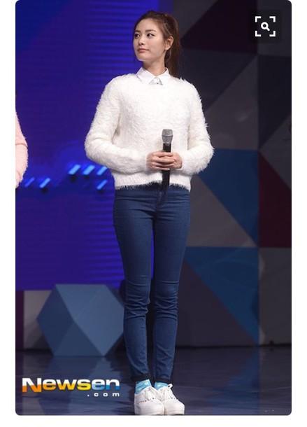 57a7f4503b6c sweater after school nana Nana orange caramel after school im jin ah korean  style korean fashion