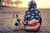 jacket,american flag,hooded,blue,red,sweater
