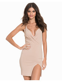 Front Wrap Slit Dress, NLY One
