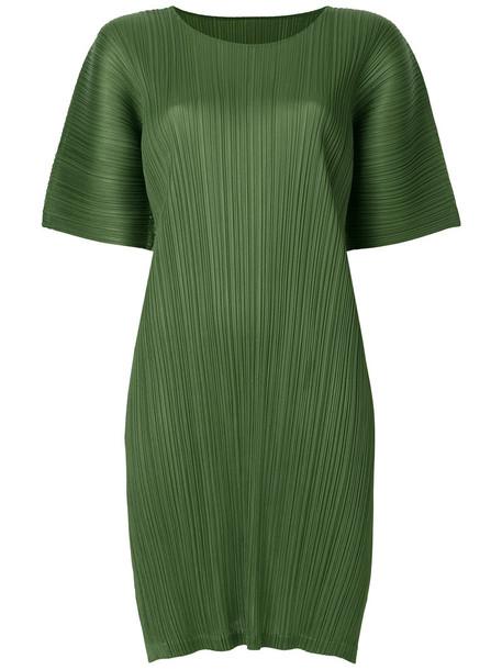 Pleats Please By Issey Miyake dress short women green