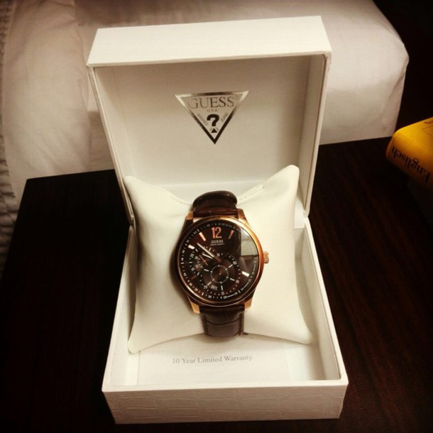 jewels brown watch guess patterned inside guess menswear birthday present