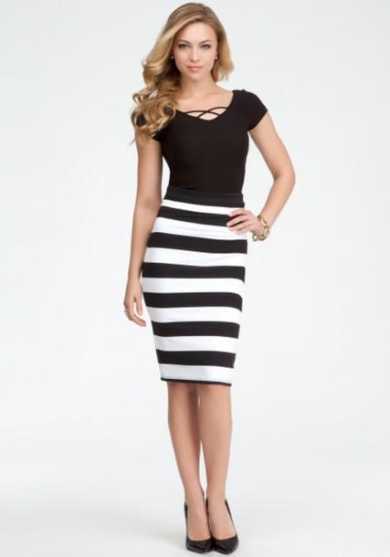 skirt black and white uae long tight cute