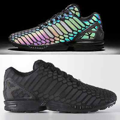 competitive price 3abe3 5965c Adidas Originals ZX Flux Xeno Men's Snakeskin Reflective Sneakers | eBay