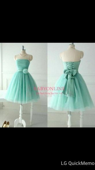 dress blue prom dress teal
