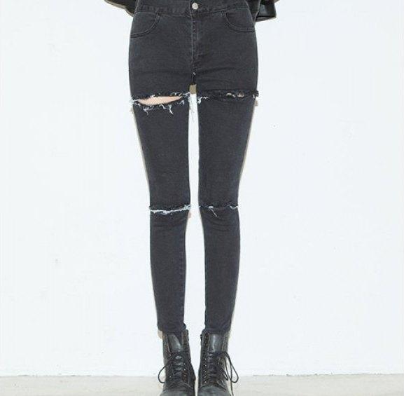 Lola torn black skinny jeans · nouveau craze · online store powered by storenvy