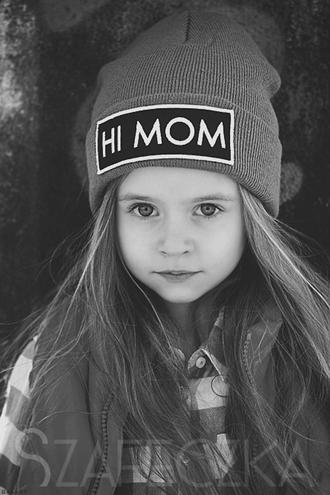 hat mom beanie hair accessories kids fashion hi mom fashion love