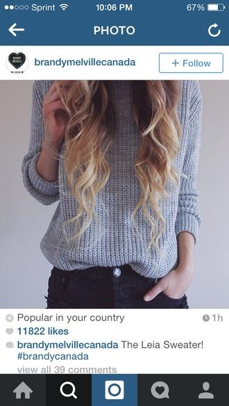 sweater gray sweater gray grey sweater