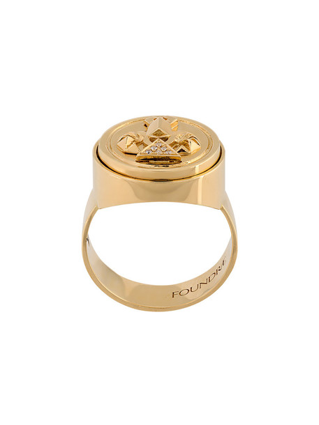 women ring gold grey metallic jewels