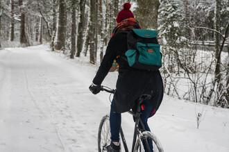 bag backpack cycling coat scarf