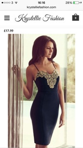 black and gold,dress,elegant dress,elegant,embroidered,classy,midi dress