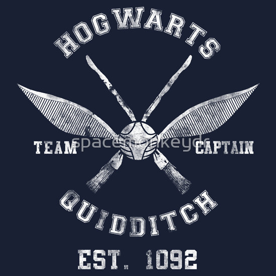 """Hogwarts Quidditch Athletic Tee Harry Potter Shirt"" T-Shirts & Hoodies by spacemonkeydr 