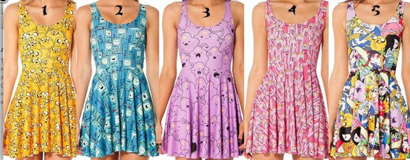 Black Milk yellow blue purple pink colorful yellow dress blue dress purple dress pink dress adventure time adventure time dress