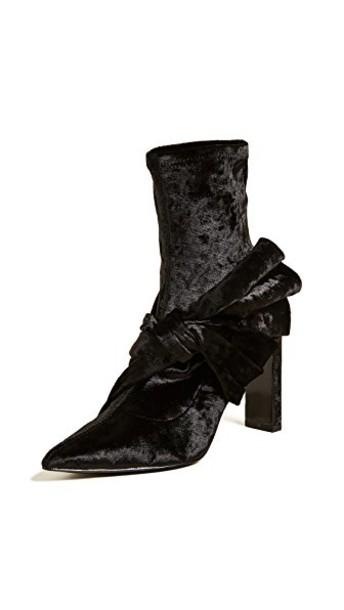 Sigerson Morrison bow booties black shoes
