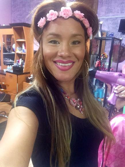 hair accessories headband make-up pink mac lipstick hair accessories