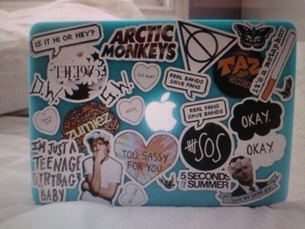 laptop stickers computer sticker stickers the 1975 sassy zumiez arctic  monkeys butterfly okaysage 5 seconds of