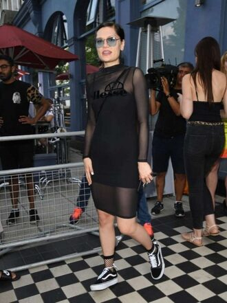 dress jessie j mesh mesh dress black dress sneakers