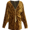Gold kimono mini dress | moda operandi