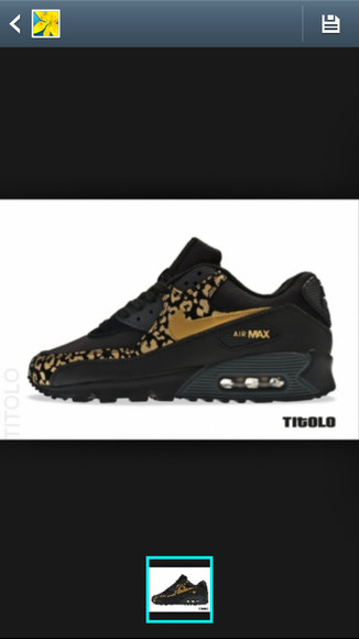 shoes black & gold cheetah print
