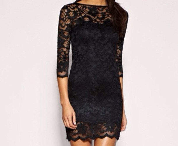 dress little black dress black lace dress lace