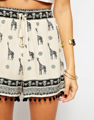 shorts black cream white hippie alternative fashion alternative