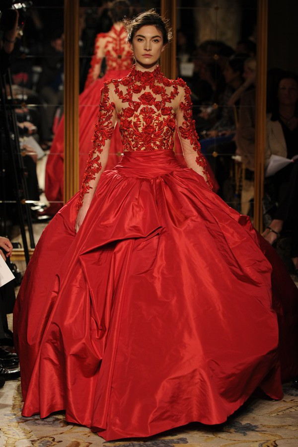 Dress flower wedding dress red wedding dress ball gown for Big red wedding dresses