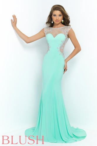 prom blue dress blue prom dress blush prom by alexia illusion dresses dress it's a mint chiffon dress find somewhere where. i can get it it customize i saw it on tumblr prom dress blue green mint green n prom dress blue pretty cute girly girl girly wishlist prom dress prom gown prom beauty long prom dress