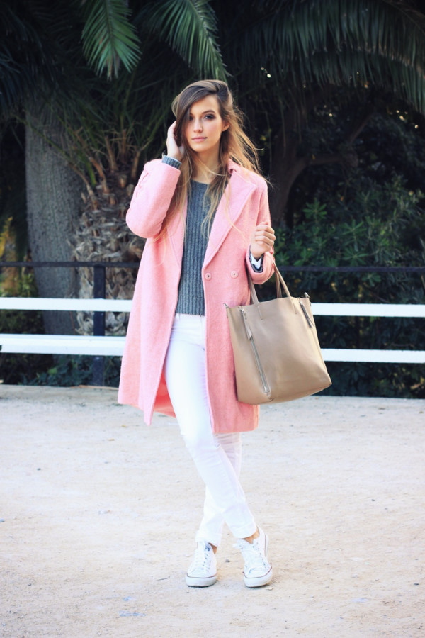 fashion quite coat sweater jeans bag shoes
