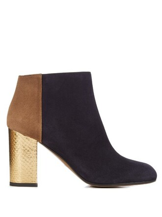 suede ankle boots boots ankle boots suede navy shoes