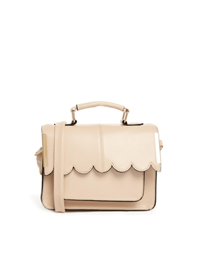 ASOS | ASOS Mini Satchel Bag with Scallop Bar Detail at ASOS