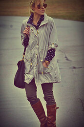 happily grey,jacket,shirt,jeans,shoes,jewels,sunglasses,bag