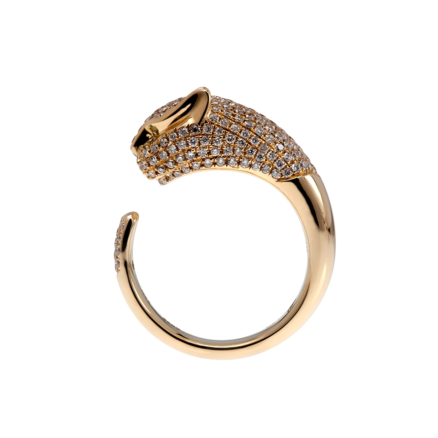 Gold, Tsavorite and Diamond Pavé Panther Ring | Anita Ko | Editorialist