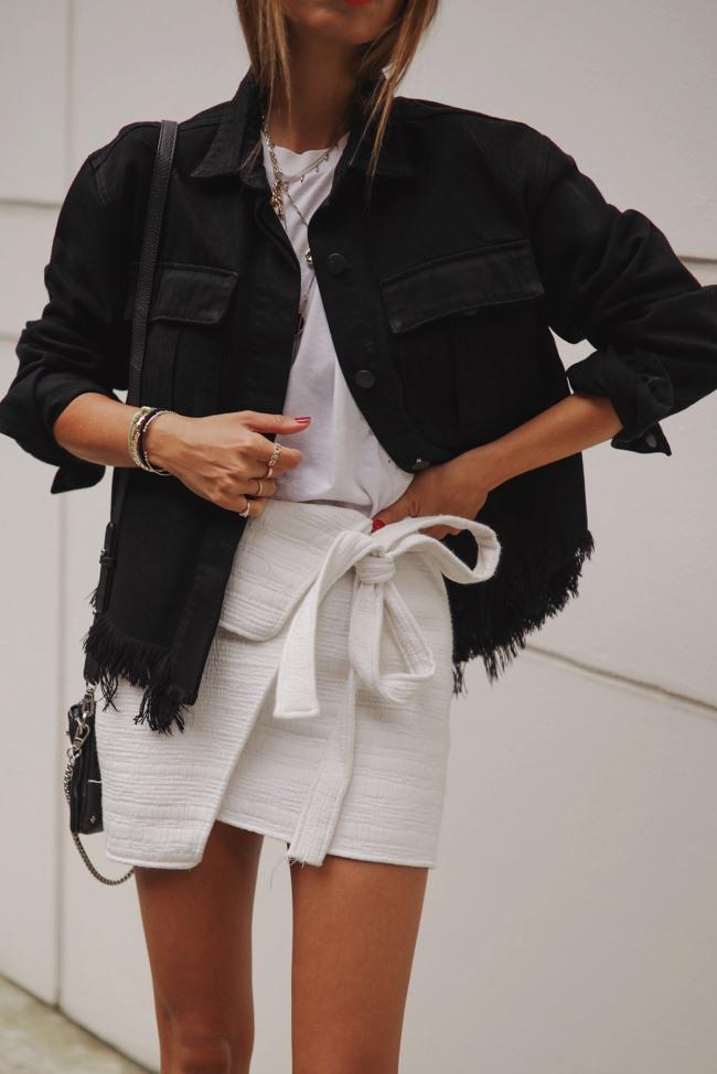 Fray Shannan Jacket In Black