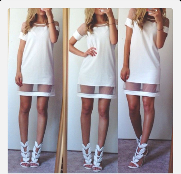 dress white see through shoes summer white dress white high heels summer dress summer outfits summer dress girly new balance cool girl style