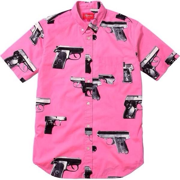 shirt pink gun