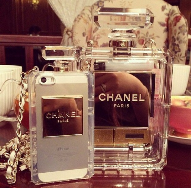 e3d73f86d837b7 bag chanel phone phone cover see through ipadiphonecase.com hair accessory  jewels white phone cover